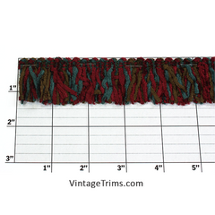 "Versaille Multicolor Rayon Chenille Fringe 1-1/4"" (Per Yard) 27 Colors"