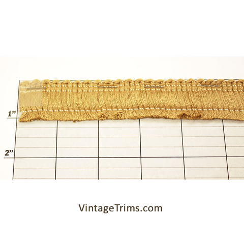 "Brush Fringe 1-1/8"" (Per Yard) Gold"