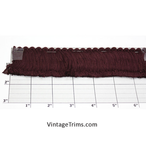 "Brush Fringe 1-5/8"" (Per Yard) Aubergine"