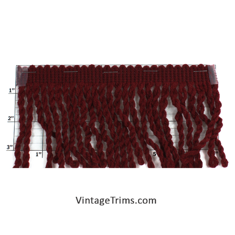 "Bullion Fringe 4"" (Per Yard) Burgundy"