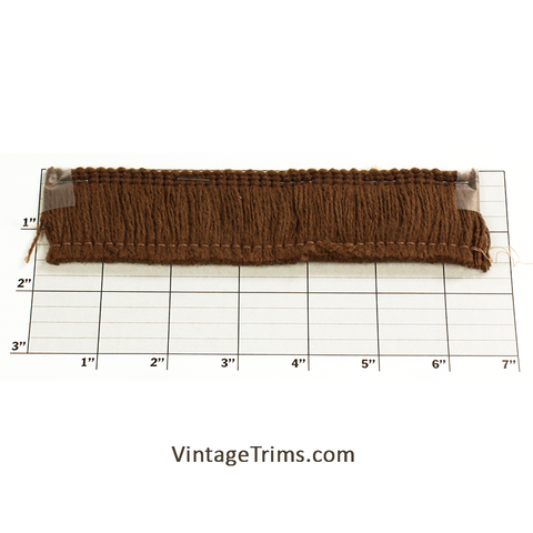 "Thick Brush Fringe 1-1/2"" (144 Yard Roll) Suede"