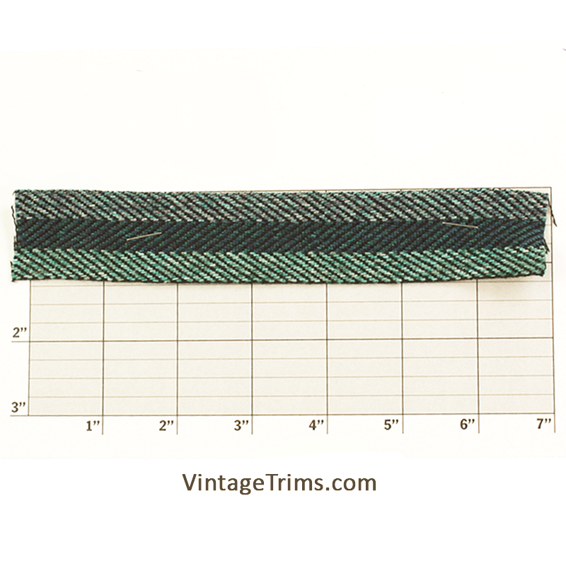 "Bias Braid 1-1/4"" (Per Yard) Navy/Green"