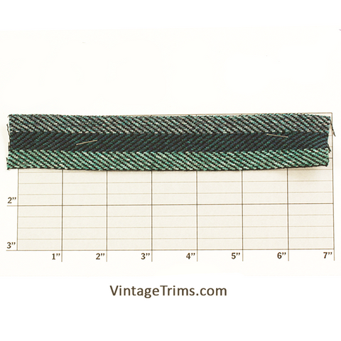 "Braid Bias 1 1/4"" (50 Yard Roll) Navy/Green"