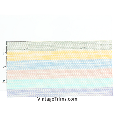 "Stripe Webbing 4""<BR>(Per Yard)<BR>8 Colors"