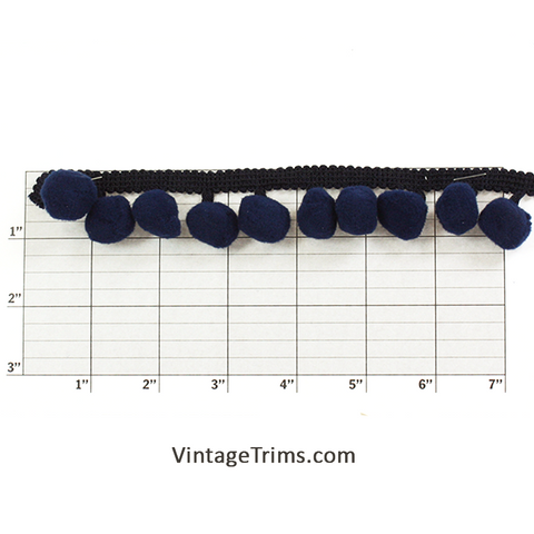 "Ball Fringe 3/4"" (Per Yard) Dark Blue"