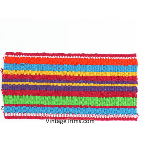 "Stripes Cotton Webbing 3-1/2""<Br>(Per Yard)<br>7 Colors"