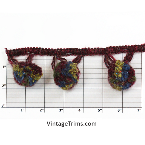 Multicolor Ball Fringe 1-1/2