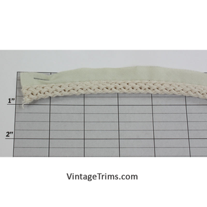 "Braided Lip Cord 1/4"" (288 Yard Roll) Cream"