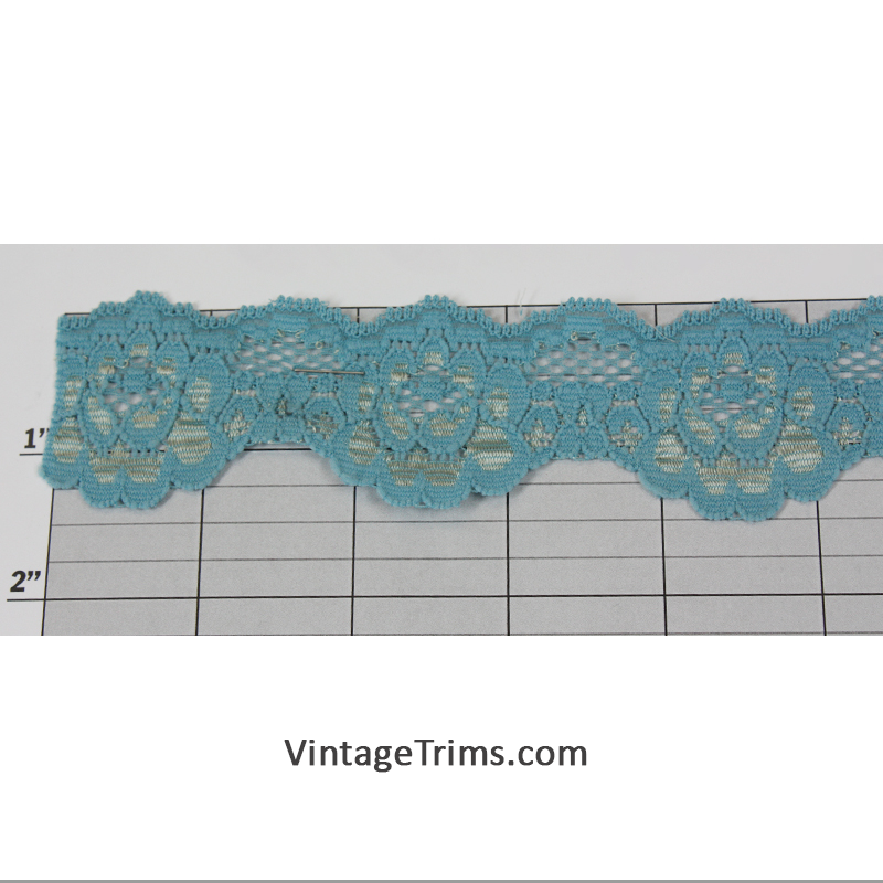 "Bell Lace 1-1/2"" (Per Yard) Blue"