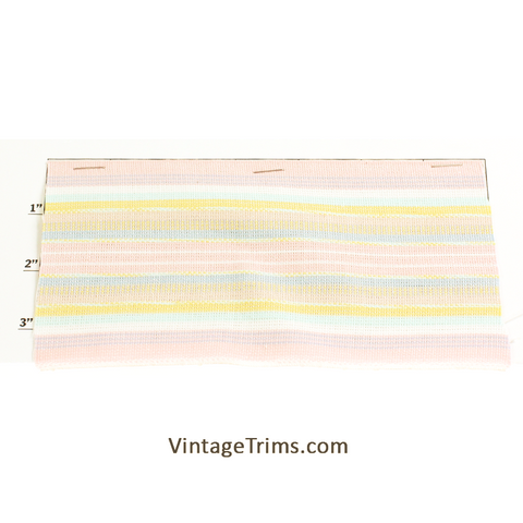 "Woven Braid 3-5/8""<br>(50 Yard Roll)<br>Pink/Seafoam/Yellow/White/<br>Baby Blue"