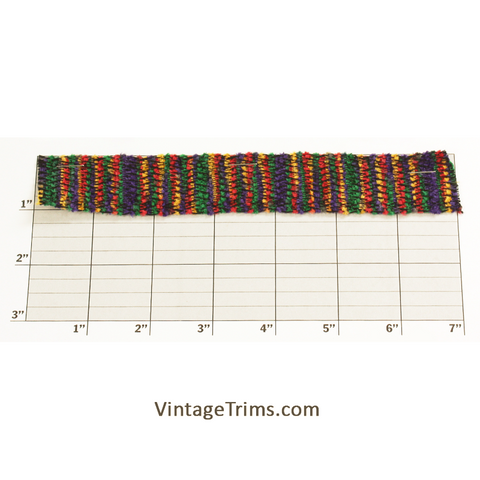 "Multicolor Woven Braid 1-1/8""<br>(Per Yard)<br>Red/Yellow/Green/Purple"