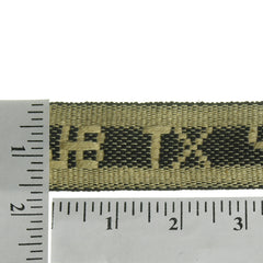 "Lettered Jacquard 1-1/2"" (Per Yard) Cream/Black"