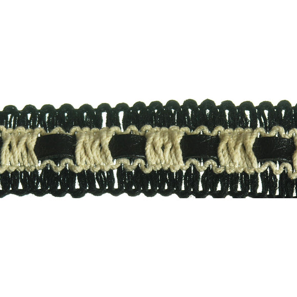Leather Inset Braid 1