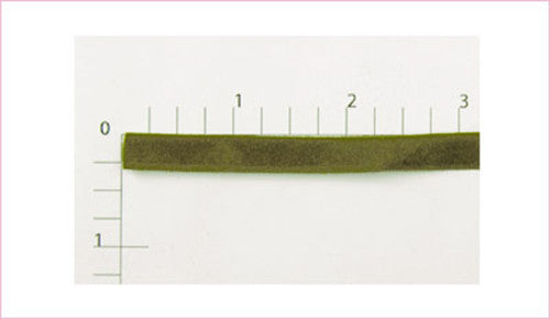 Olive Green Velour, 144 Yards (1 Roll)
