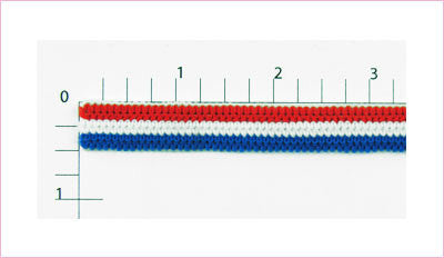 "Patriotic Elastic Fabric Trim 7/16"" (Per Yard) Red/White/Blue"