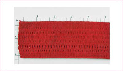 "Elastic Fabric Trim 2-1/8"" (Per Yard) Red"