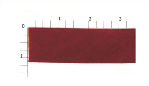 Thin Burgundy Bias Fabric Trim