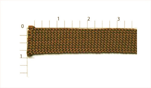 Brown Rayon Braid Fabric Trim