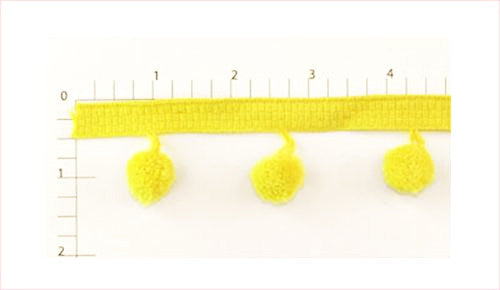 Yellow Ball Fringe Fabric Trim, 36 Yard Roll