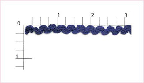 Royal Blue Ric Rac, 288 Yards (1 Roll)