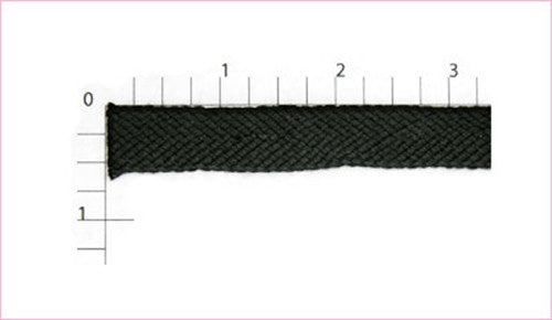 Black Flat Bias Fabric Trim