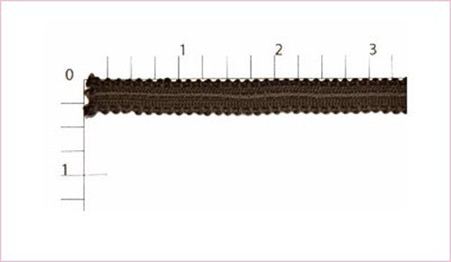 Brown Rayon Gimp Fabric Trim