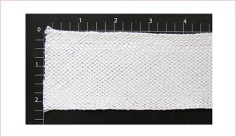 "Flat Braid Fabric Trim 2"" (Per Yard) White"