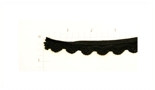 Black Ric Rac Braid Fabric Trim