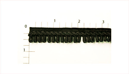 Black Rayon Fringe Fabric Trim