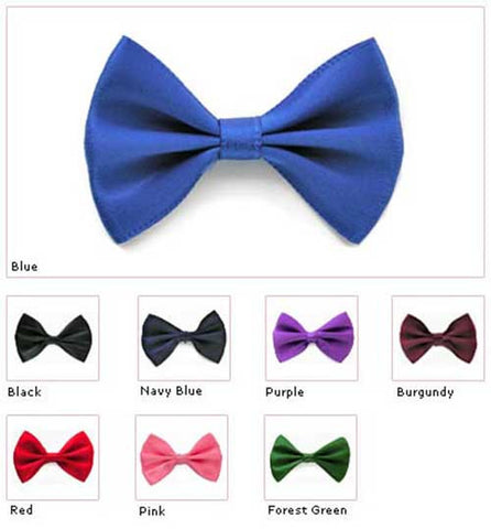 "Large 2"" Apparel Grade Fabric Bow Tie  (Box of 100) 7 Colors (#73)"