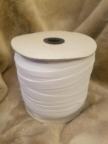 "White Elastic, 3/4"", Spooled, 144 Yards - Each *"