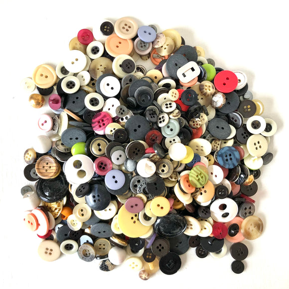 Assorted Vintage Buttons 1 pound