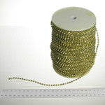 4mm Faceted Metallic Faux Pearls (100 yards)  *SILVER & GOLD* , #11172