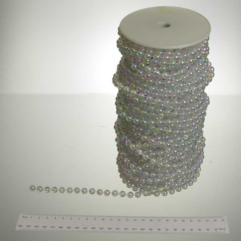 8mm Round Iridescent Pearls (30 yards), *SEVEN COLORS*    #10687