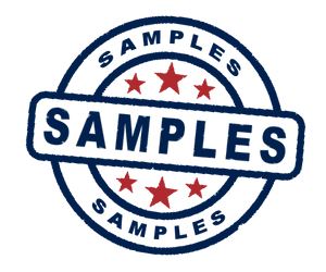 Samples: Up to 3 small cut samples