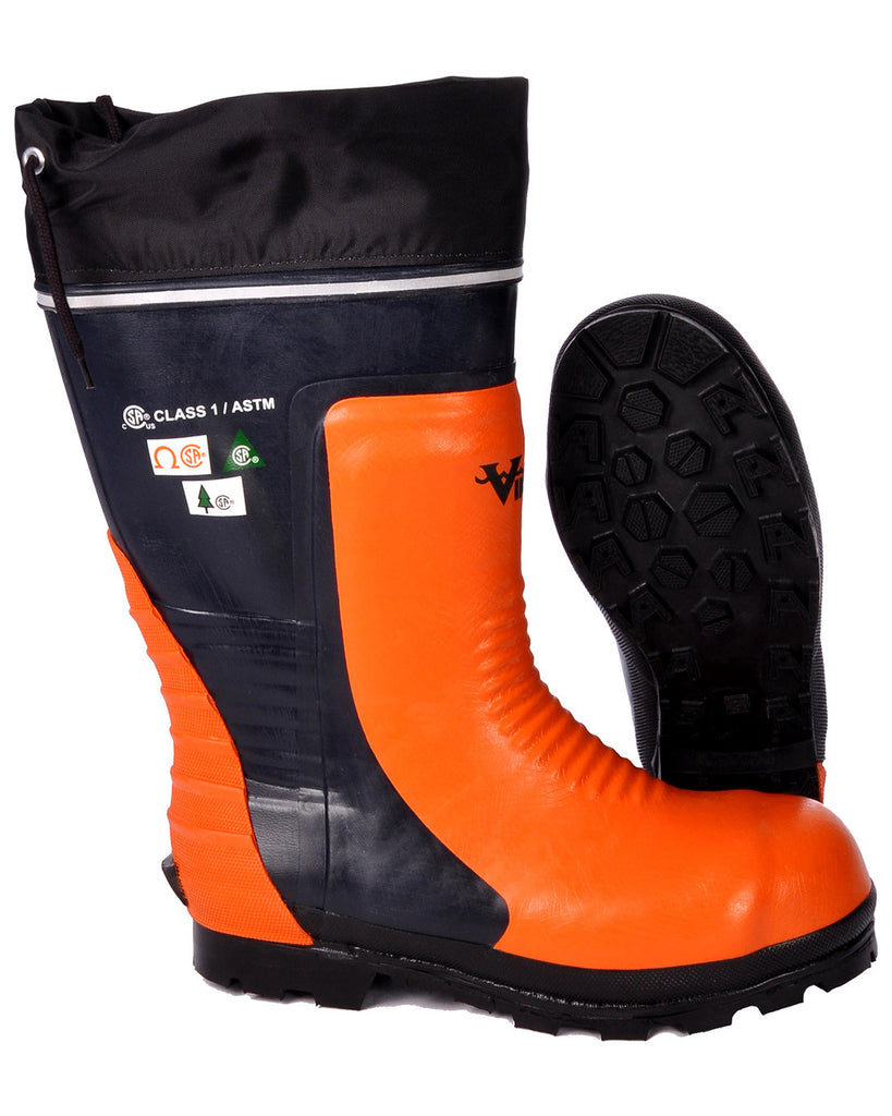 Botte de sécurité Viking forestier noir et orange  VW58-1
