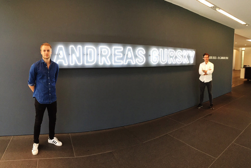 Andreas Gursky exhibition in Baden Baden - neon sign by sygns