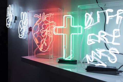 Neon in acrylic boxes