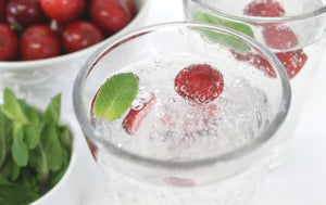 Infuse your Sparkling Water with Fresh Cherries & Mint