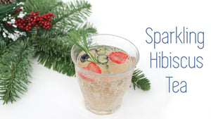 Here is a Sparkling Hibiscus Tea for the Holidays