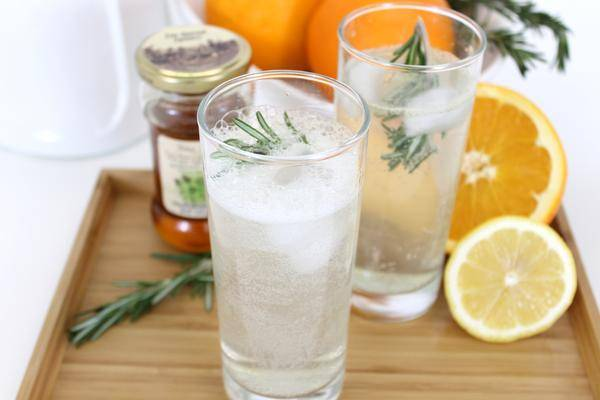 Making a Rosemary Citrus Sparkler