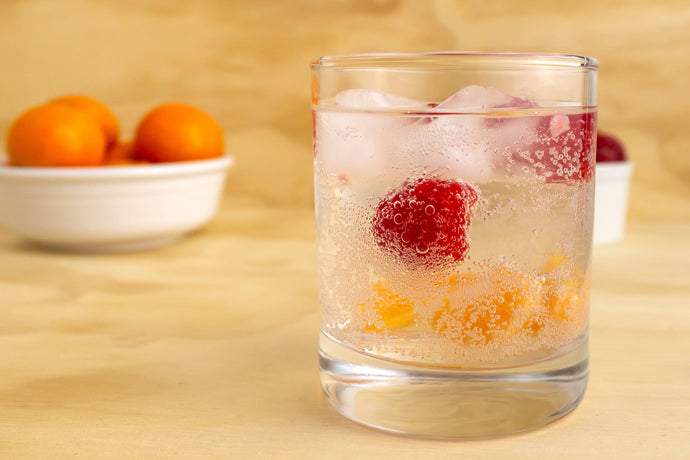 Making Raspberry Clementine Sparkling Water
