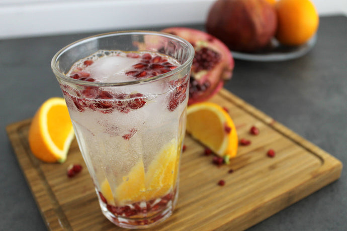 A Sparkling Twist on a Tasty Duo: The Orange-Pomegranate Sparkling Water!