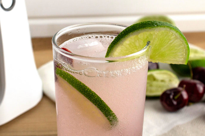Make Sparkling Water with a Perfect Summer Combo: Cherry & Lime