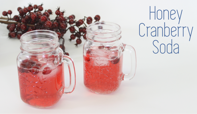 Sweeten Up Your Day With This All Natural Honey Cranberry Sparkler