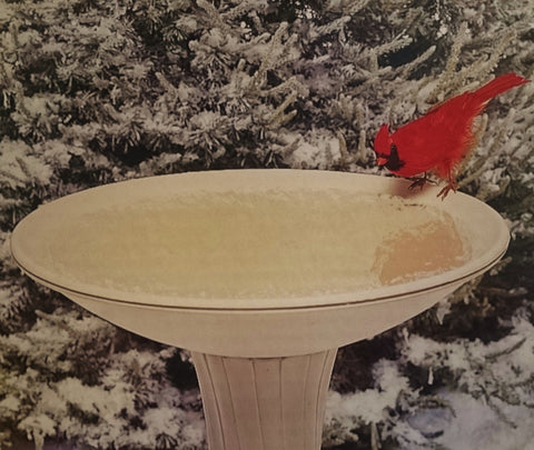 "Heated 20"" bird bath bowl"