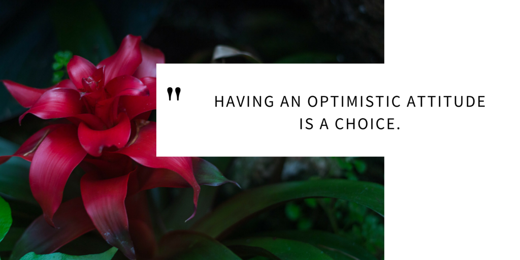 Having an optimisic attitude is a choice.