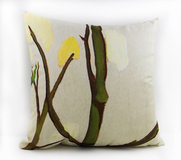 100% cotton pillow by India and Purry, the perfect way to invite nature into your home.