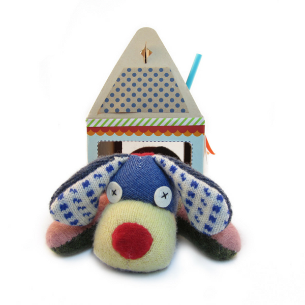 100% reclaimed wool stuffed animal kit by Cate & Levi, create special memories with your children while creating a special friend for them!