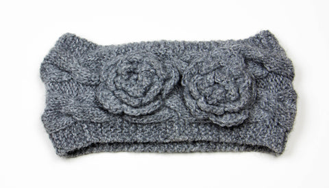 Cable Weave Flower Headband